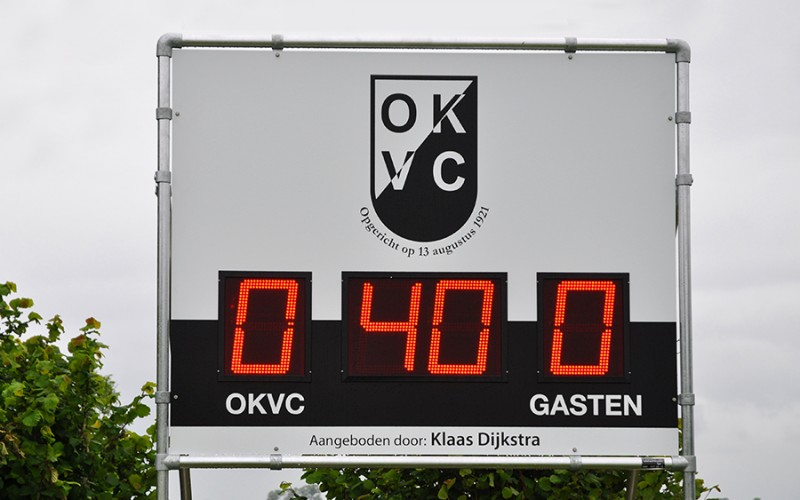 OKVC scorebord met LED display
